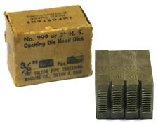 THE TOLEDO PIPE THREADING MACHINE CO. NO. 999 OR 2'' H.S. OPENING DIE HEAD DIES