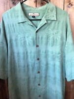 Tommy Bahama Large Mens 100% Silk Hawaiian Shirt
