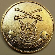 17th Cavalry Regiment Gold Toned ser# 1497  Army Challenge Coin