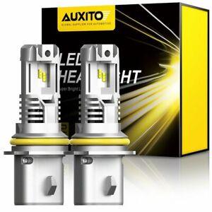 AUXITO 9007 HB5 LED Headlight Bulb 24000LM HID Bright 200W Hi/Lo Beam 6500K Kit