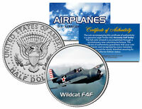 WILDCAT F4F * Airplane Series * JFK Kennedy Half Dollar Colorized US Coin