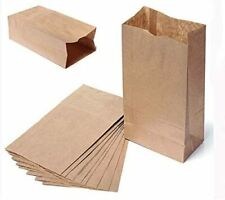 More details for paper grab bag - kraft brown sos takeaway food bag without handles 24 x14 x30cm