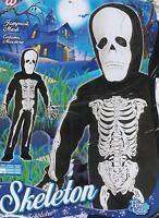 Vestito, Abito, Costume Carnevale HALLOWEEN, SCHELETRO, SKELETON ( 3-4 ANNI )