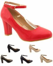 Unbranded Block Heel Suede Strappy, Ankle Straps Heels for Women