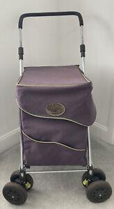 Genuine Sholley Trolley Mobility Aid Shopping - Purple - 6 Wheel