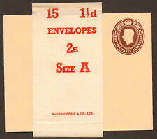11 / 2D GIORGIO VI Busta inutilizzati ES62 + wrapper Band 15 11 / 2D BUSTE 2S Taglia un