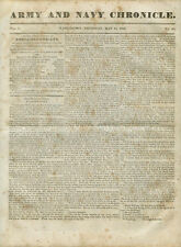 Newspaper Army and Navy Chronicle U.S. Military Fort Gibson Arkansas  1835
