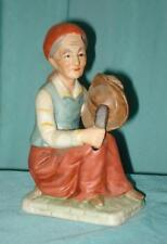 Old Woman with Hat Porcelain Figurine Free Shipping