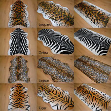 african soft faux fur bedroom fake animal skin print pattern floor rugs rug mat