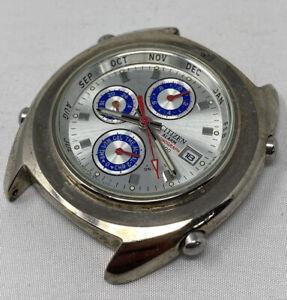 Vintage Citizen 6870 S69454 HSC Chronograph GN-4-S 10Bar Wrist Watch