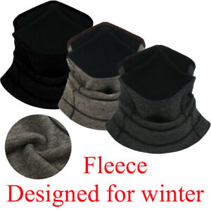 Neck Warmer Gaiter Tube Winter Face Scarf with Breathable Mesh for Men & Women