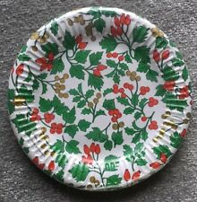 10 x Bibo Elite Paper Plates Holly Party Christmas Tableware - Made in Italy NEW