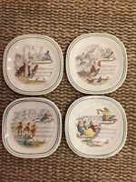 Vintage P V Opera Plates Made In England Set Of Four