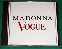 Madonna - Vogue BRAZIL Promo Cd 1990 WEA NO BARCODE
