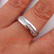 Genuine Solid 9ct Mens Womens White Gold Engagement Wedding Rings lab Diamonds
