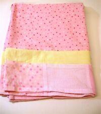 "Lambs & Ivy Standard Crib Skirt ~ Pink & Yellow ~ 15"" Drop"