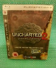 Uncharted 2 Among Thieves Limited Edition Collector's Box PS3 VGC with manual