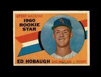 1960 Topps Baseball #131 Ed Hobaugh RS RC (White Sox) NM  #AAB123