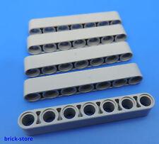 LEGO® technic Nr.- 4495930 / 7 Loch hellgrau Lochstangen - Liftarm / 5 Stück