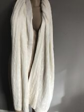 NWOT Cream Cabled Cashmere scarf/ Wrap by Cynthia Rowley