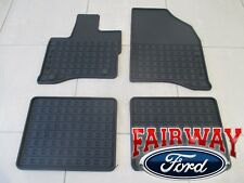 10 thru 16 Taurus OEM Genuine Ford Black Rubber All Weather Floor Mat Set 4-pc