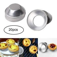 20Pcs Nonstick Mini Pie Muffin Cupcake Pans Tin Egg Tart Mold Bakeware Reuseable