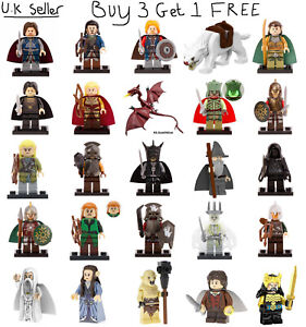 Lord of the Rings Minifigure The Hobbit Lego &Custom Gandalf Legolas Warg Figure