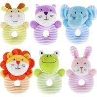 Kids Baby Animal Handbells Musical Developmental Toy Bed Bells Rattle Toys OO