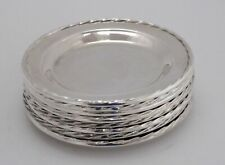 Towle Flutes Sterling Silver Bread / Dessert Plates