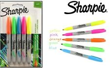 Sharpie Neon Permanent Markers Pen Fine Point Assorted 5 Color Fluorescent Craft