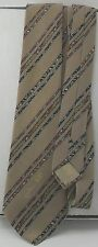 Jean Patou of Paris Brown Tan Necktie Multicolor Stripes