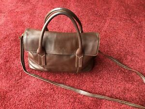 Lovely Ladies Brown Leather Radley Grab/Messenger Bag