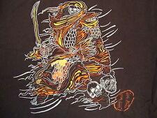 Fatherz Premium Clothing Brand Tribal Skull Brown T Shirt 2XL