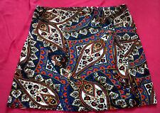 Primark blue Aztec/Floral style Printed Skirt
