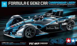 58681 Tamiya 1/10 RC Car TC-01 Chassis Formula E GEN2 Car Championship Livery