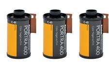 3 rolls KODAK PORTRA 400 35mm 36exp Professional Colour Film 135-36