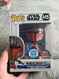 Funko Pop - Star Wars - Mandalorian Super Commando 415 - Funko shop ltd edition