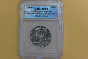 2005 D KENNEDY HALF DOLLAR ICG SP69 SATIN FINISH COIN