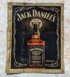 Jack Daniel's Upcycled Shabby Chic Metal Sign Wall Mounted