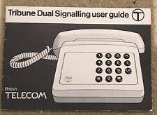 BT Tribune Signalling User Guide Retro Telephone 1980's