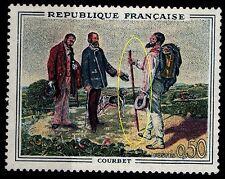 Double Bâton sur Tableau COURBET, Neuf ** = Cote 10 € / Lot Timbre France 1363a