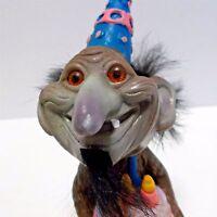 "Vintage Russ Berries TROLL BOBBLEHEAD Nodder Happy Birthday Hong Kong 5"" Tall"