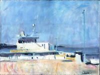 """Russischer Realist Expressionist Öl Leinwand """"Sonniger Tag"""" 80 x 60 cm"""