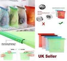 1 Litre,1.5 Litre Silicone Food Storage Bag Freezer Reusable Seal Ziplock Vacuum