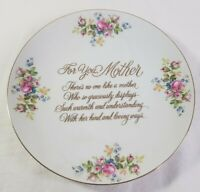 Saji Fine China Plate Floral Print For You Mother Gold Porcelain Free Shipping