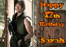 WALKING DEAD Daryl Dixon Norman Reedus Personalised Happy Birthday zombie Card 2