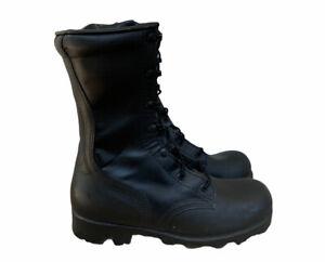 Altama Black Leather Military Combat Boots Steel Toe Upper Men's Size 8