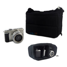 Padded Camera Bag DSLR Inner Folding Divider Partition Protect Case Black Insert