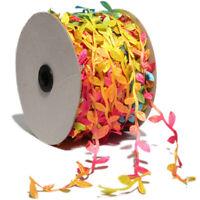 100Yard Colorful Lace Leaf Trim Newborn Leaves Stretch Ribbon Wedding Decoration