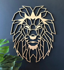 Geometric Lion Head Wall Art - Home Decor Kids Nursery Bedroom Decoration